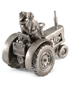 Just Hitched Tractor Wedding Cake Topper - I swore up and down I'm not pinning anything wedding until the time comes, but I couldn't resist...too perfect.