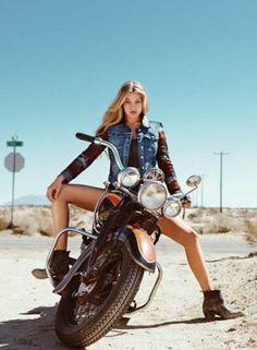 """bikes-n-girls: """" Biker girl http://bikes-n-girls.tumblr.com/ """""""