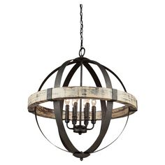 $384.95 joss and main  Featuring a globe silhouette and oil-rubbed bronze finish, this 6-light chandelier brings an industrial-chic touch to your living room or foyer....