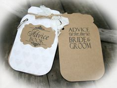 Advice Mason Jar Style Tags Book AND Tag sign by MerryMeDesign