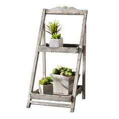 HGC Foldable Wooden Plant Stand for Outdoor/Greenhouse, 2 Shelves Outdoor Greenhouse, Outdoor Plants, Outdoor Gardens, Indoor Outdoor, Indoor Gardening, Garden Plant Stand, Garden Plants, Succulent Plants, Potted Plants