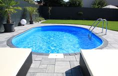 Such a wonderful swimming pool can soon be in your garden for little money . - Such a wonderful swimming pool can soon be in your garden for little money! Terrace Garden, Herb Garden, Diy Pool, Pergola Designs, Beach Pool, Backyard Landscaping, Garden Design, Outdoor Decor, Ainsi