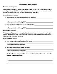 Worksheet Freak The Mighty Worksheets the ojays on pinterest freak mighty inferential and explicit questions activity