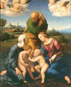 Visit the Alte Pinakothek in Munich, Germany | It contains some of the greatest masterpieces in art | Shown: The Canigiani Holy Family by Raphael