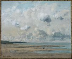 Shores of Normandy, 1866 by Gustave Courbet. Realism. landscape. Musée Eugène Boudin, France