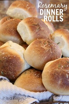 These easy Rosemary dinner rolls start with frozen bread dough.  They are an easy bread recipe that turns out perfect every time and a great for holiday meals!