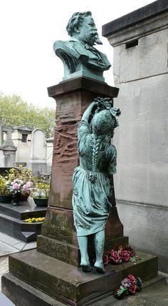 BARTHOLDI, Auguste (1834-1904) - Tombe de Gustave Jundt. Cimetière Montparnasse - Paris 14