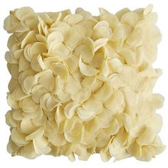 Boutique Floral Pillow - Yellow