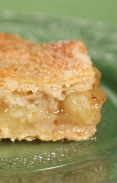 Apple Pie Bars recipe from Jenny Jones (JennyCanCook.com) - Healthy, easy recipe made without butter or shortening. I'll never make apple pie the old way again.