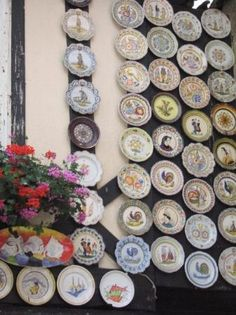 The perfect wall - covered in faience from Quimper, France.