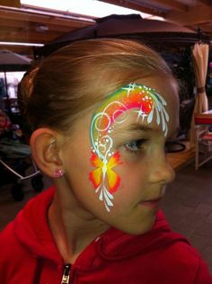 Cool girl butterfly face painting