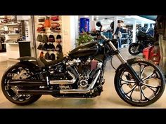 New 2018 Harley-Davidson Breakout Customized by Arni Harley in Switzerland - YouTube