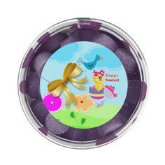 Spring Easter Chick Purple Grape Gum Favors by #MoonDreamsMusic #PurpleGrapeGumFavors #SpringEasterChick #PurplePolkaDots
