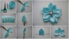 Kurdeleden Çiçek Yapımı Resimli Anlatım. Kurdeleden Çiçek Nasıl Yapılır. Kurdele İle Kolay Çiçek Yapımı. Kurdele Çiçek Modelleri.