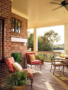 Front porch fireplace.  Yes, please!