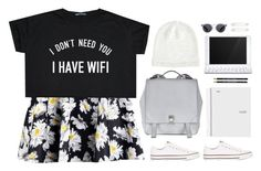 """Wifi (:"" by emc1397 ❤ liked on Polyvore featuring Boohoo, Converse, Proenza Schouler, Witchery, Logitech, Illesteva and Kristin Cavallari"
