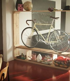 Proudly display your bike with Thomas Walde's Shoes Books and a Bike, a sturdy shelving unit with plenty of space. The stand is made of f...
