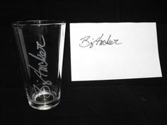 Personalized Glass with their signature