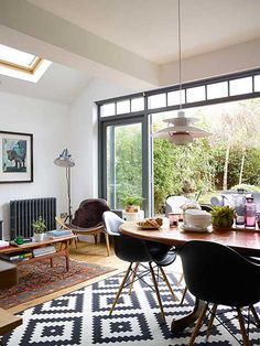 Victorian terraced home extension dining area