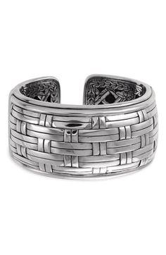 John Hardy | 'Bedeg Silver' Cuff Bracelet. Sterling silver