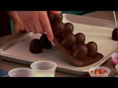 Brownie Pops with Dove Chocolate Discoveries Brownies! If you want to order the… Chocolate Party, Chocolate Coffee, Chocolate Truffles, Chocolate Recipes, Fudge Pops, Brownie Pops, Fudge Brownies, Recipe Videos, Food Videos