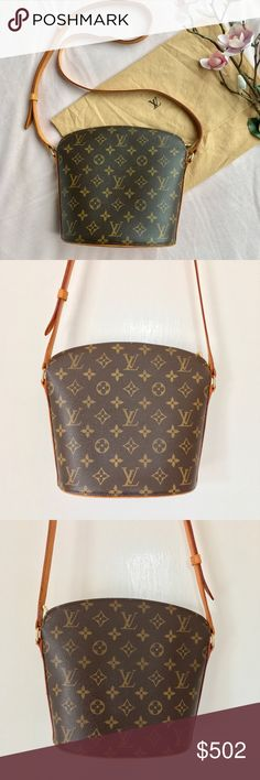 Louis Vuitton monogram Drouot Bag Authentic Louis Vuitton Drouot Crossbody bag. Great condition. Noted: water marks on bottom, a few on side and a couple of minor scratches on interior. Exterior in excellent conditions. Metal shows very minor wear. Zipper works well. 8x8.5x4 w/ strap drop 21.5 at longest. Serial # VI0031  comes w/ dustbag. MY LOWEST IS ALREADY LISTED NO OFFERSBUY IT NOW OPTION ONLY I ONLY TRADE FOR CASH  Louis Vuitton Bags Crossbody Bags