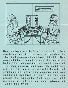 Flyer ad for our telecommunications expertise (1982). Telephone, Connection, Software, Positivity, Memes, Phone, Meme, Optimism
