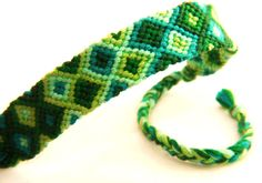 Green Knotted Friendship Bracelet
