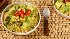 Easy Thai Green Curry With Tofu and Vegetables - Recipes - Best Recipes Ever - A curry is a great place to add or substitute your favourite vegetables.