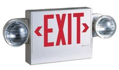 RED LED EXIT SIGN COMBO