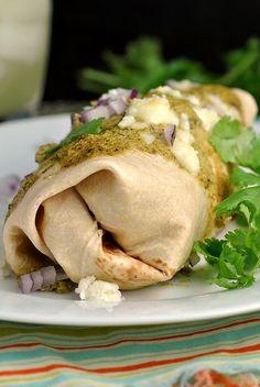 Chicken Enchiladas with Poblano Sauce