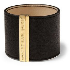 Marc by Marc Jacobs Letter Press Leather Cuff ($118) found on Polyvore