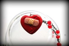 cute polymer clay necklace