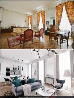 Avant après relooking décoration salon | Avant Après Déco | Pinterest