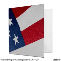 Stars and Stripes Three Ring Binder by Amy Steeples.  Available on Zazzle.