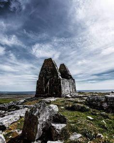 Teampall Bheanáin on Inis Mór is regarded as the smallest church in Europe. It's thought to date to the century and is just metres in length! 11th Century, Half Dome, Ireland, Europe, Tours, Mountains, Nature, Travel, Voyage