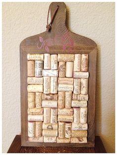 Wine cork tray by AshleyColeDesigns on Etsy