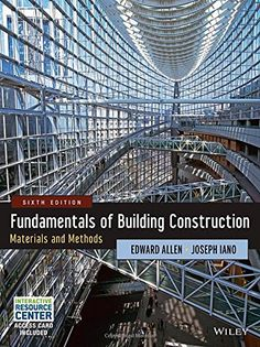 Fundamentals of building construction : materials and methods / Edward Allen and Joseph Iano. Signatura: 40 ALLE 1   Na biblioteca: http://kmelot.biblioteca.udc.es/record=b1524644~S6*gag