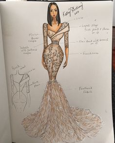 Maryam's beautiful dress, illustration done months ago. thank you for choosing kathyanthony ❤️ Dress Design Drawing, Dress Design Sketches, Fashion Design Sketchbook, Fashion Design Drawings, Fashion Sketches, Fashion Design Portfolio, Fashion Illustration Template, Dress Illustration, Fashion Illustration Dresses