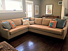 Large sofa makeover. Check out other sofa makeovers at The Sofa Company. www.thesofaco.com