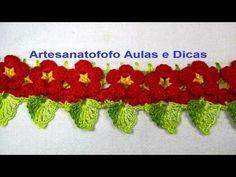 Bico florzinha em crochê#DESTRO - Crochê 67 - YouTube