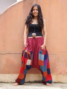 Harem Pants ...Yoga Pants ..Leisure Pants ...Patchwork by Ablaa