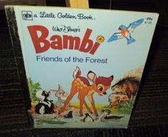 WALT DISNEY'S BAMBI FRIENDS OF THE FOREST LITTLE GOLDEN BOOK, HC GREAT READ, GUC