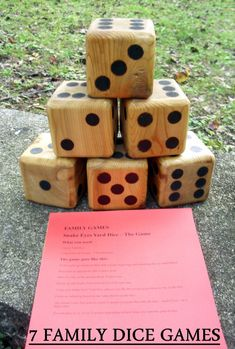 35 Trendy yard dice games for kids Outdoor Yard Games, Diy Yard Games, Outdoor Games For Kids, Backyard Games, Garden Games, Outdoor Play, Outdoor Activities, Backyard Ideas, Dice Games