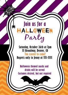 printable halloween invitation birthday party costume kids