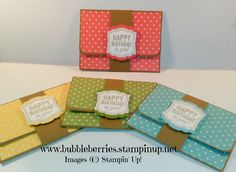 Quick and Easy Gift Card/Money Wallet using Stampin' Up!