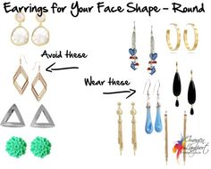 Earrings For Your Face Shape - Round | Inside Out Style