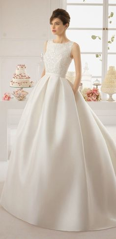 Classic Wedding Dress | Aire Barcelona 2015 Bridal Collection