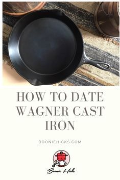 Wagner cast iron or Wagner Ware are some of the finest vintage cast iron cookware. Learn the history, dating, logos of Wanger Manufacturing Company. Cast Iron Skillet, Cast Iron Cooking, Vintage Cast Iron Cookware, Wagner Cast Iron, Griswold Cast Iron, Skillets, Skillet Meals, Dutch Oven, Casserole