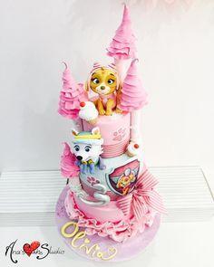Pink Paw Patrol Cake - by Ana's Cake Studio
